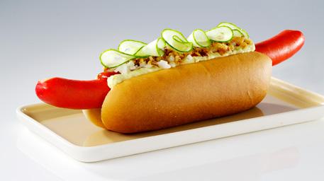 rød hotdog